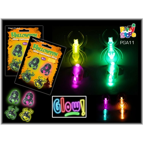 ANILLO TERROR PARTY GLOW - Bolsa x 4