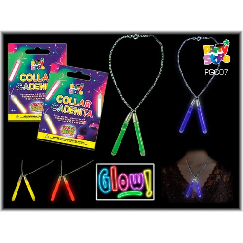 COLLAR VARA X 2 PARTY GLOW c/cadenita