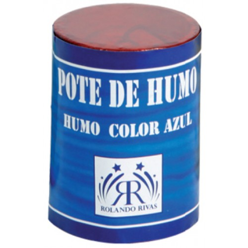 POTES DE HUMO COLOR AZUL