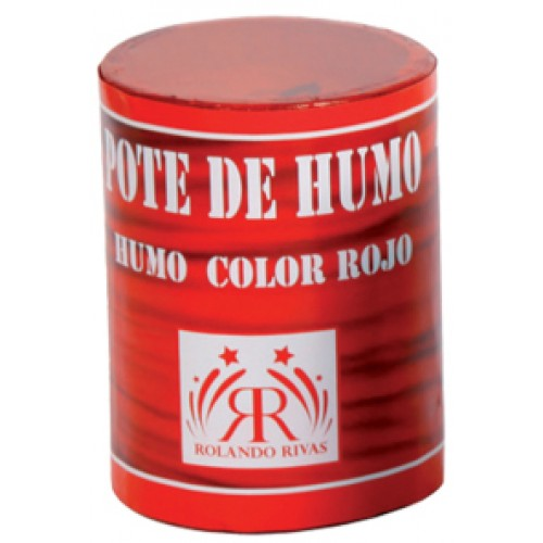 POTES DE HUMO COLOR ROJO