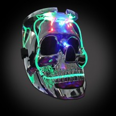 MÁSCARA CALAVERA SUPER LUMINOSA CON LUZ LED