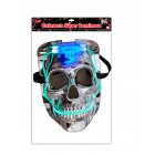 MASCARA CALAVERA SUPER LUMINOSA CON LUZ LED