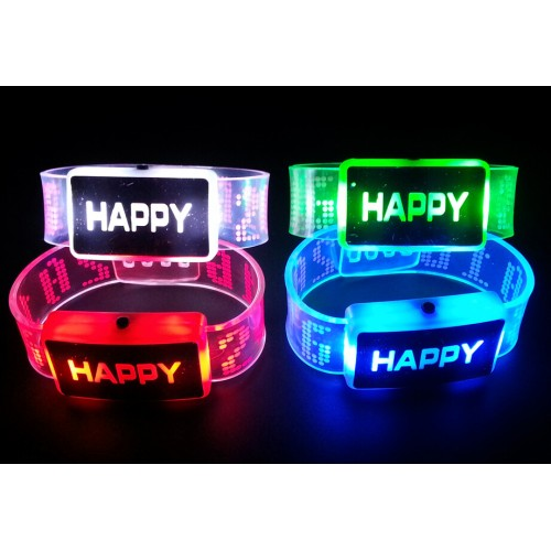 PULSERA HAPPY CON LUZ LED